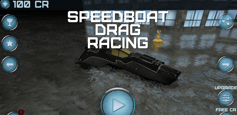 Speedboat drag racing